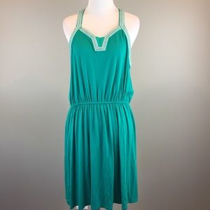 Skies Are Blue Stitch Fix Green Sleeveless Dress